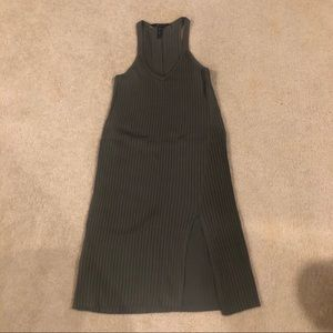 BCBGMAXAZRIA Olive Green Halter Tank Dress